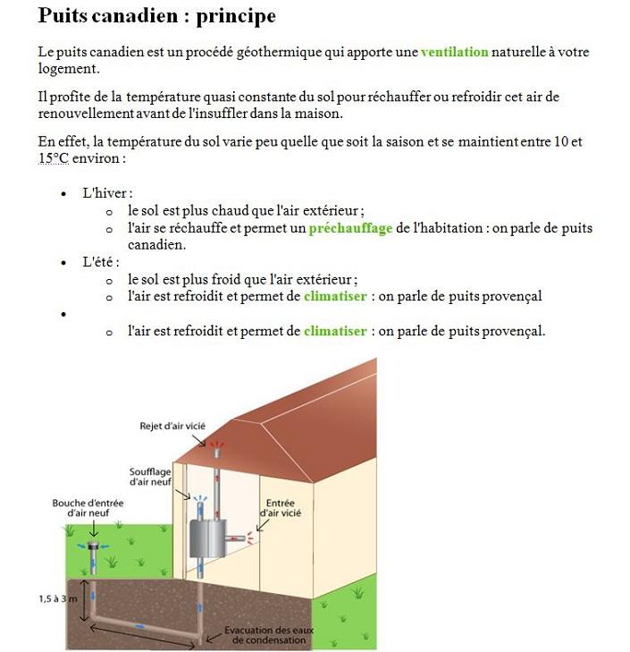 Puits canadien region centre societe freesun - Climatisation naturelle puit canadien ...